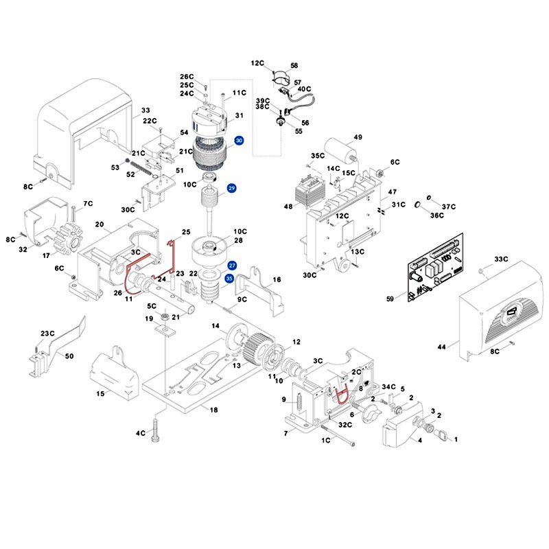 Condensateur came bx74 78 habitat automatisme - Vue eclatee moteur ...