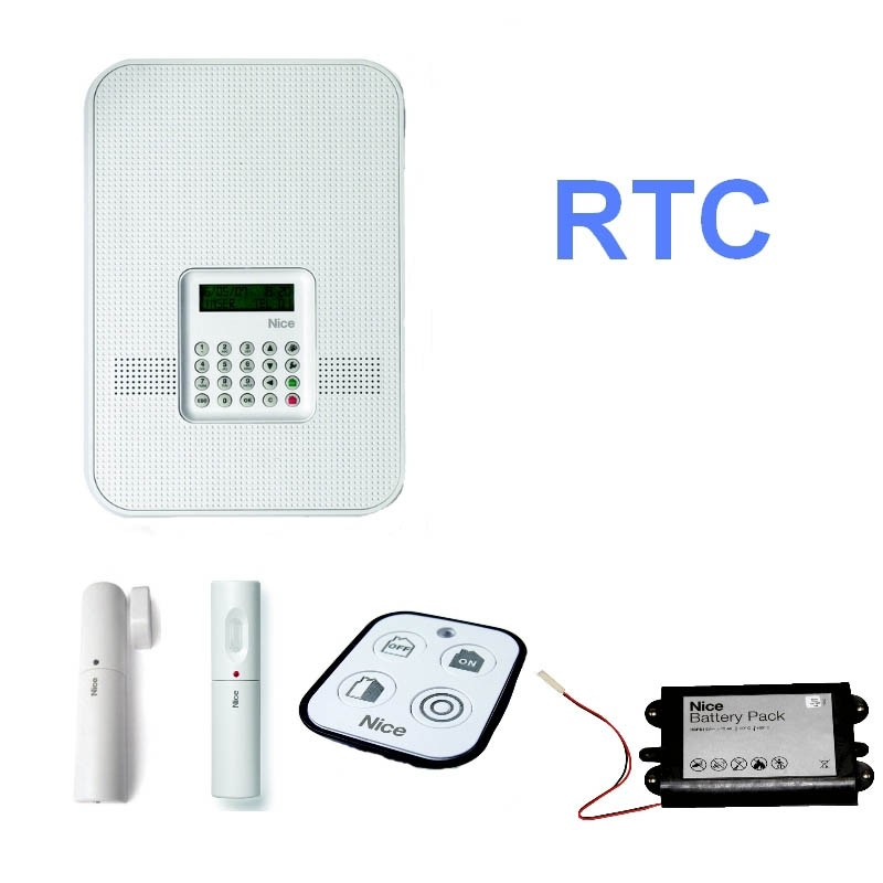 Kit alarme maison nice home hskit1wfr habitat automatisme for Alarme garage sans fil