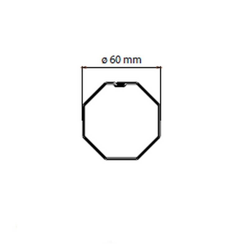 Adaptateur 45mm pour tube octogonal 60