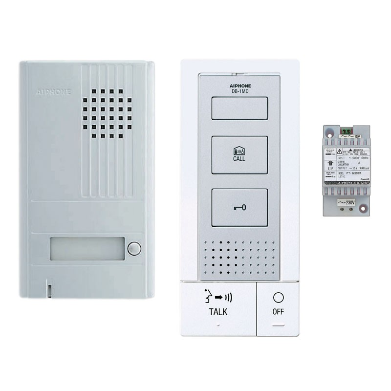 aiphone dbs1ap interphone mains libres habitat automatisme