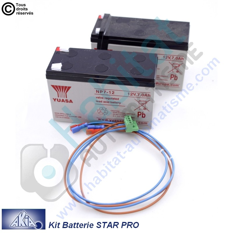 Kit batterie de secours Akia Star Pro