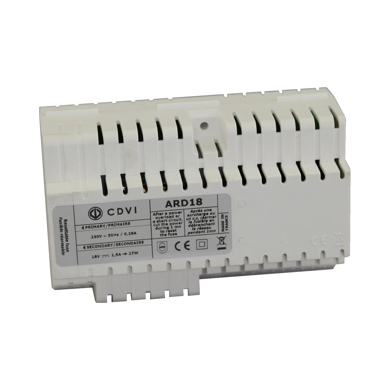 Alimentation électrique pour Visiophone 230-18Vdc