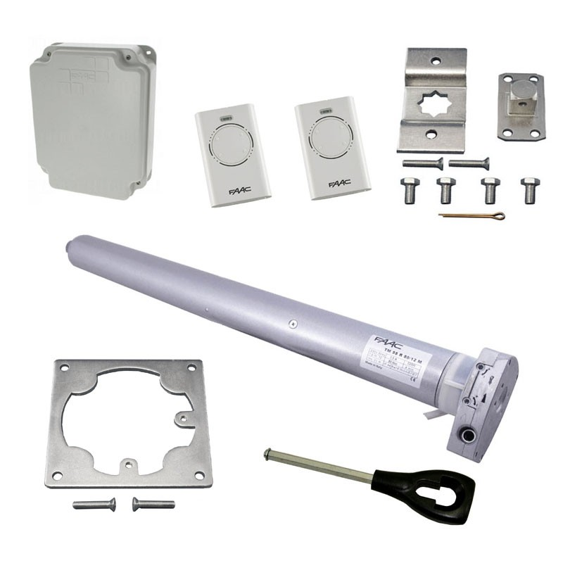 FAAC Kit motorisation porte garage enroulable 9m² secours