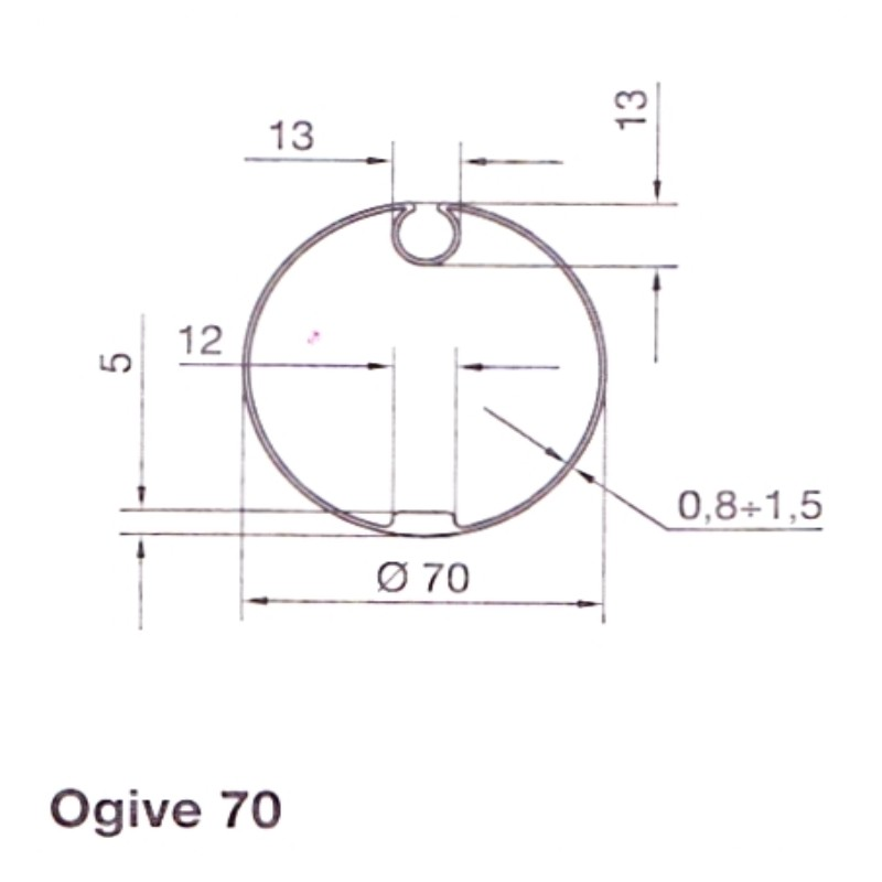Adaptation Ogive 70 Série M