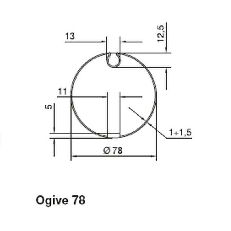 Adaptation Ogive 78 Série M