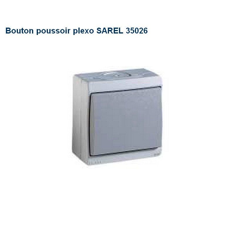 bouton poussoir plexo sarel 35026 mureva habitat automatisme. Black Bedroom Furniture Sets. Home Design Ideas