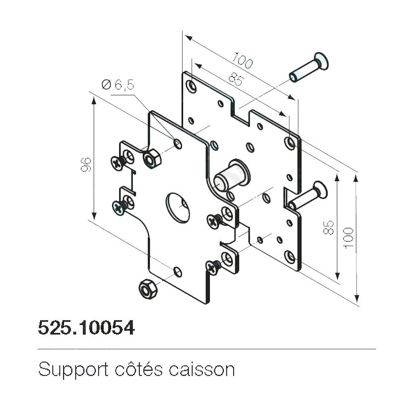 Support moteur Nice 525.10054