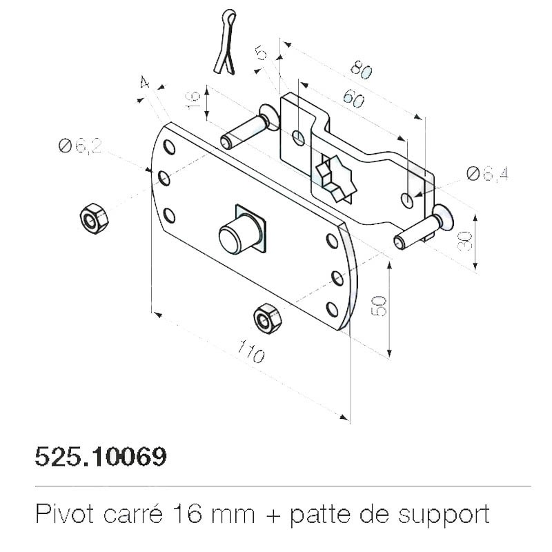 Support moteur Nice 525.10069