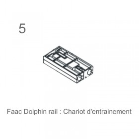 FAAC Dolphin rail chariot d'entrainement