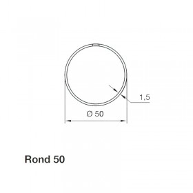 Adaptation Rond 50mm  Nice Neo M