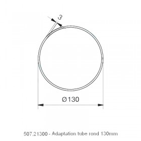 Adaptation Rond 130mm - NICE XL