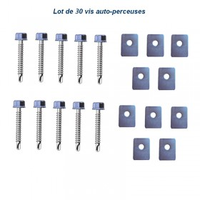 Vis auto-perceuse 6.3x32mm Lot de 30
