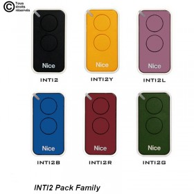 Nice INTI2 Pack family Télécommandes x6 automatisme