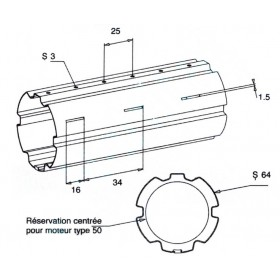 ZF64 3m Tube enroulement volet roulant