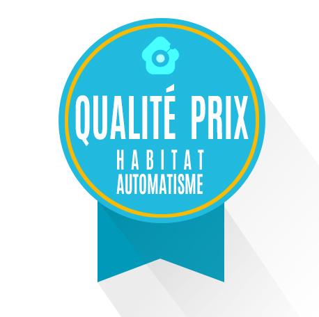 Sceau qualité prix des clients d'Habitat Automatisme